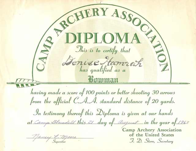 archery diploma