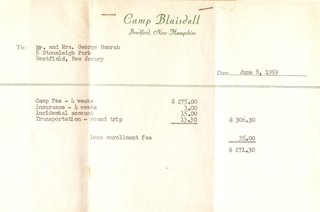 bill for camp